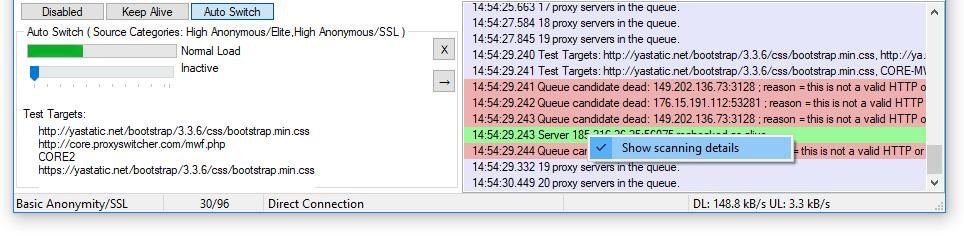 Automatic Proxy Switching with Proxy Switcher